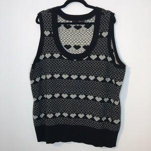 Novelty print sweater vest